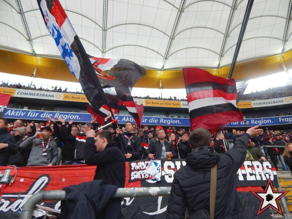 Eintracht Frankfurt - FC Ingolstadt 18.02.2017 sge fci supporters ingolstadt auswärts ultras fans fußball