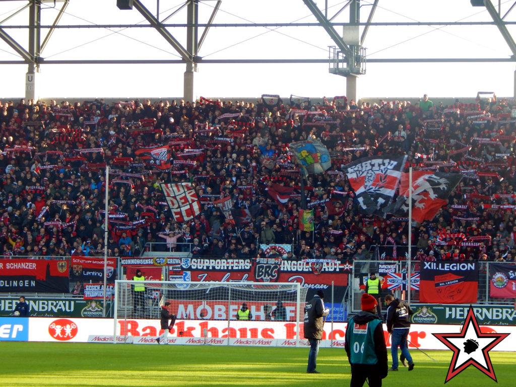 FC Ingolstadt -FC Bayern München 11.02.2017 fci fcb supporters ingolstadt südtribüne ultras fans fußball