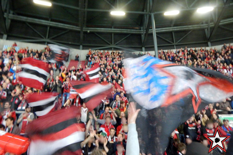 FC Augsburg - FC Ingolstadt 05.04.2017 fca fci supporters ingolstadt auswärts ultras fans fußball