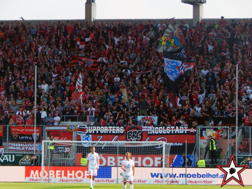 FC Ingolstadt - 1.FSV Mainz 05 02.04.2017 fci fsv mainz supporters ingolstadt südtribüne ultras fans fußball