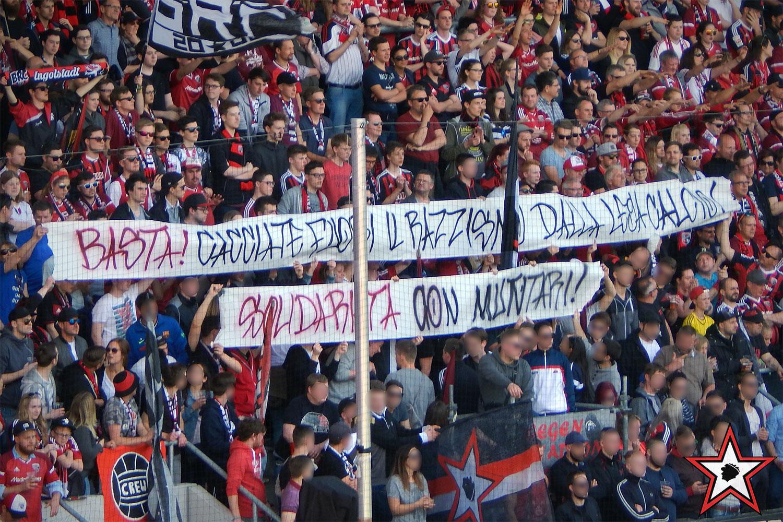 FC Ingolstadt – Bayer Leverkusen 06.05.2017 fci b04 supporters ingolstadt südtribüne ultras fans fußball