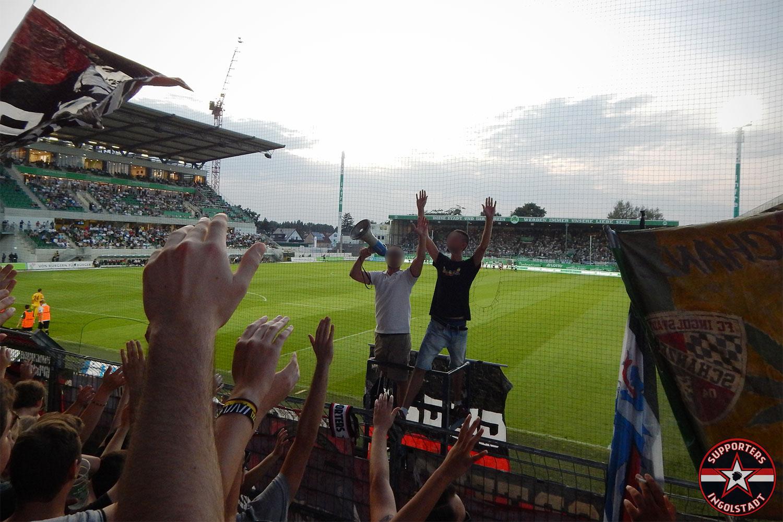 SpVgg Greuther Fürth – FC Ingolstadt 25.08.2017 spvgg fci supporters ingolstadt auswärts ultras fans fußball