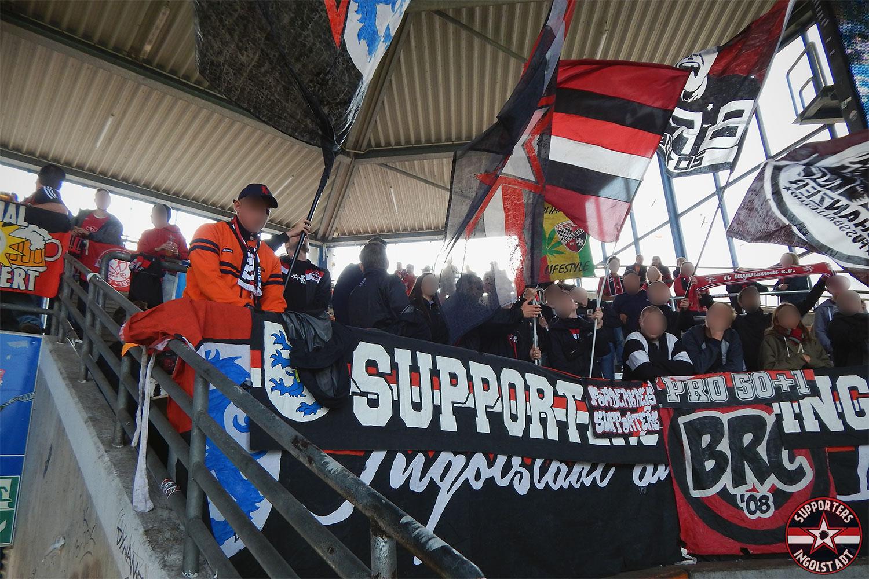 VFL Bochum - FC Ingolstadt 24.09.2017 vfl fci supporters ingolstadt auswärts ultras fans fußball