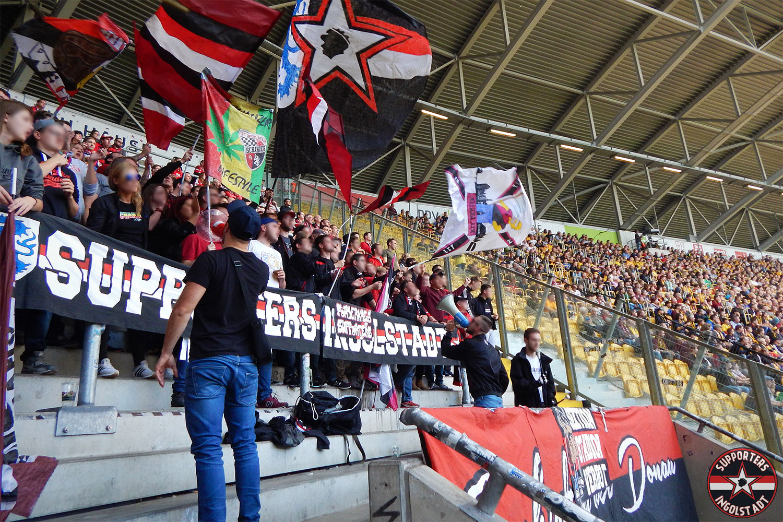 Dynamo Dresden - FC Ingolstadt 14.10.2017 sgd fci supporters ingolstadt auswärts ultras fans fußball