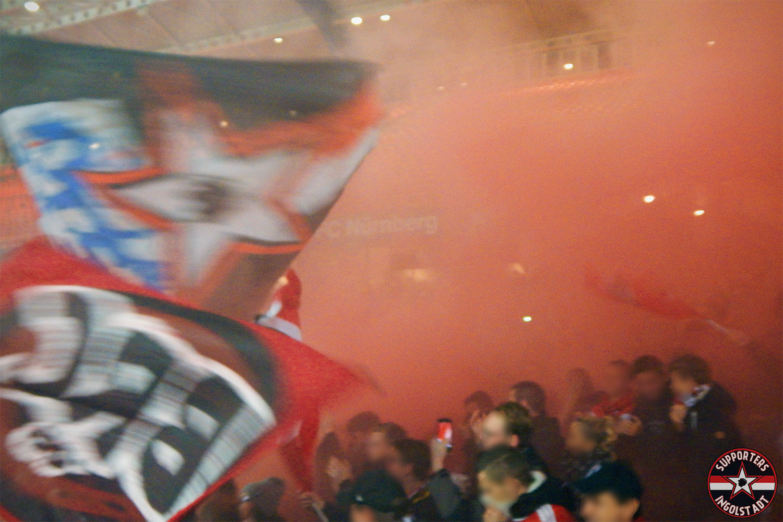 1. FC Nürnberg - FC Ingolstadt 06.11.2017 fcn fci supporters ingolstadt auswärts ultras fans fußball