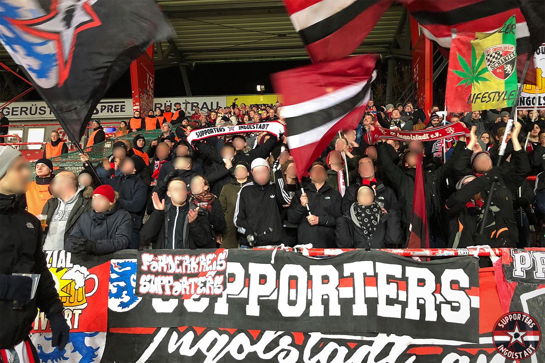 Union Berlin - FC Ingolstadt 15.12.2017 fcu fci supporters ingolstadt auswärts ultras fans fußball