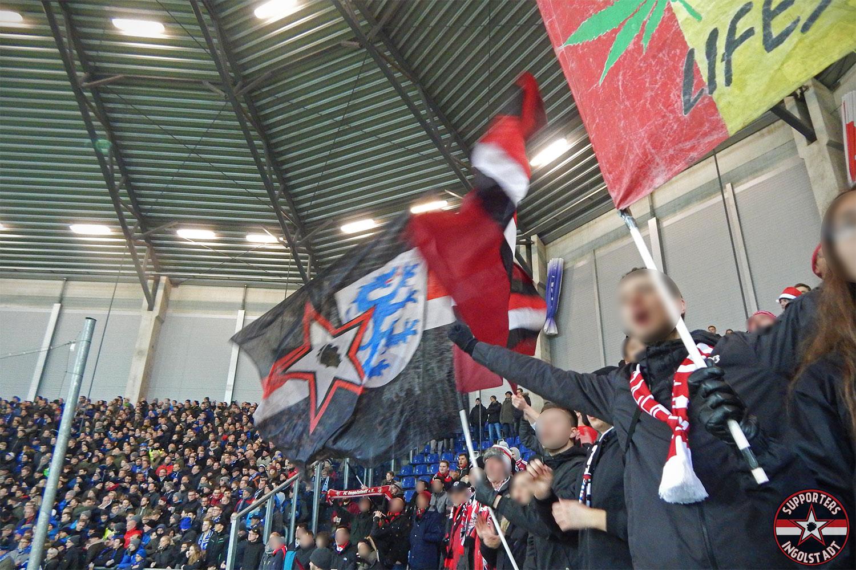SC Paderborn – FC Ingolstadt 19.12.2017 scp fci supporters ingolstadt auswärts ultras fans fußball