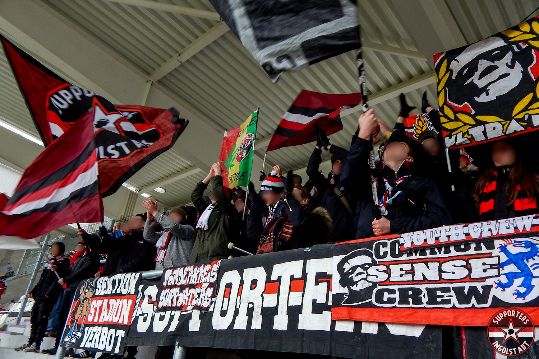 Erzgebirge Aue – FC Ingolstadt 11.02.2018 aue fci supporters ingolstadt auswärts ultras fans fußball