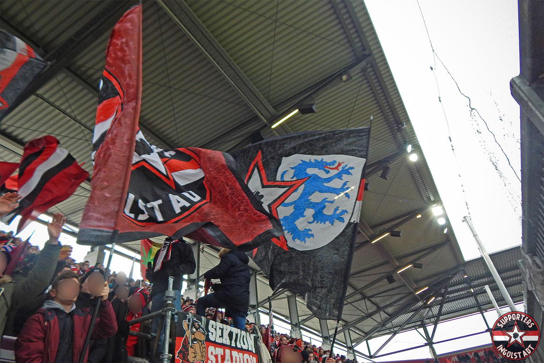 FC Ingolstadt - SpVgg Greuther Fürth 03.02.2017 fci spvgg supporters ingolstadt südtribüne ultras fans fußball