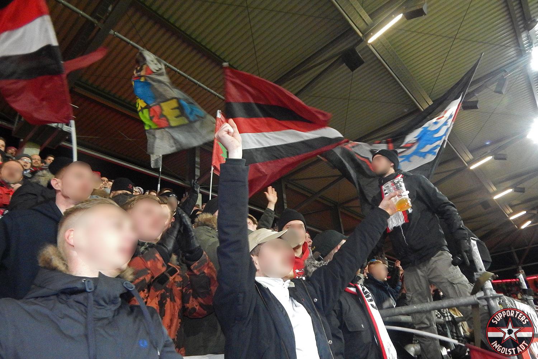 FC Ingolstadt - SV Sandhausen 23.01.2018 fci svs supporters ingolstadt südtribüne ultras fans fußball