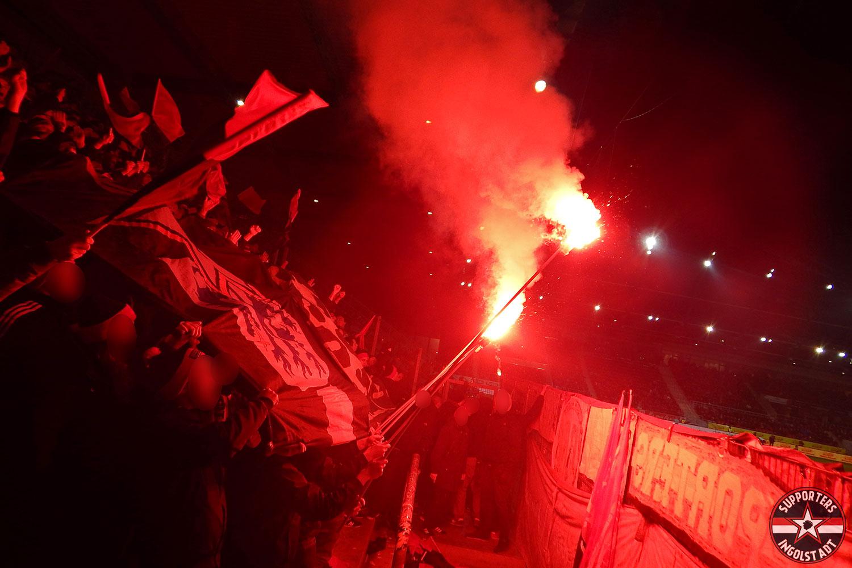 SSV Jahn 2000 Regensburg - FC Ingolstadt 26.01.2018 ssv fci supporters ingolstadt auswärts ultras fans fußball