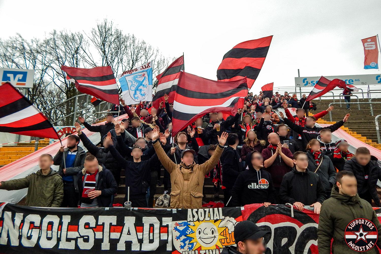 SV Darmstadt - FC Ingolstadt 10.03.2018 svd fci supporters ingolstadt auswärts ultras fans fußball