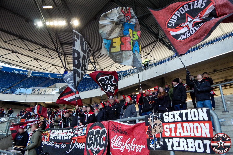 MSV Duisburg - FC Ingolstadt 24.02.2018 msv fci supporters ingolstadt auswärts ultras fans fußball