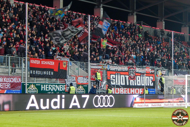 FC Ingolstadt - VFL Bochum 05.03.2018 fci vfl supporters ingolstadt südtribüne ultras fans fußball