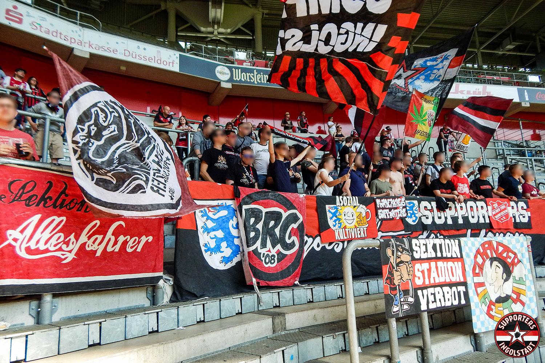 Fortuna Düsseldorf – FC Ingolstadt 22.04.2018 f95 fci supporters ingolstadt auswärts ultras fans fußball