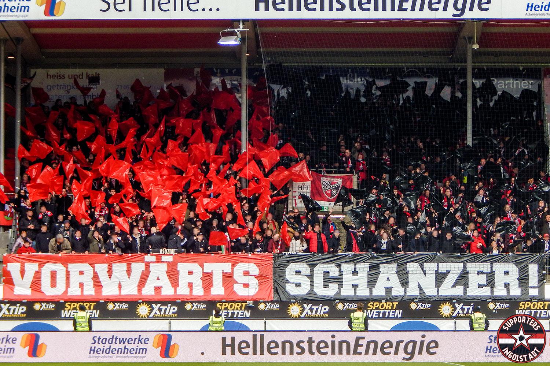 FC Heidenheim – FC Ingolstadt 31.03.2018 fch fci supporters ingolstadt auswärts ultras fans fußball