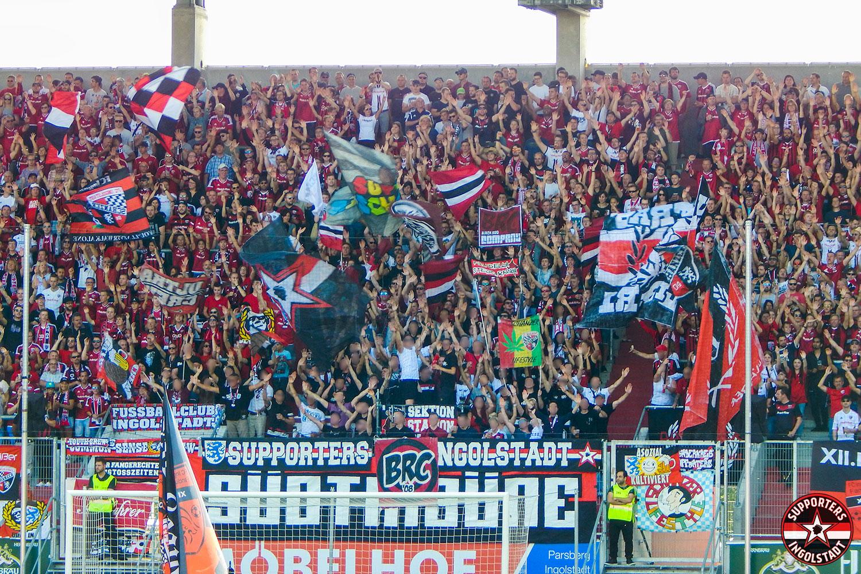 FC Ingolstadt – Union Berlin 29.07.2017 fci fcu supporters ingolstadt südtribüne ultras fans fußball