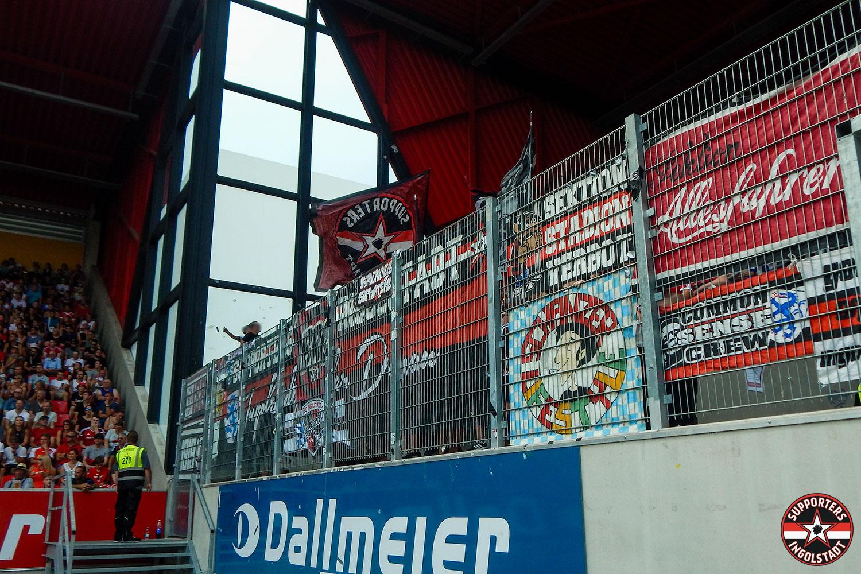 SSV Jahn 2000 Regensburg - FC Ingolstadt 04.08.2018 ssv fci supporters ingolstadt auswärts ultras fans fußball