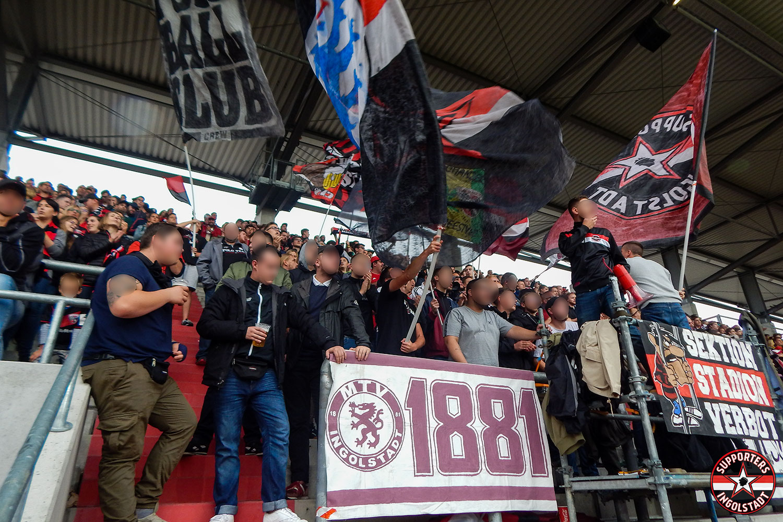 FC Ingolstadt - Erzgebirge Aue 31.08.2018 fci aue supporters ingolstadt südtribüne ultras fans fußball