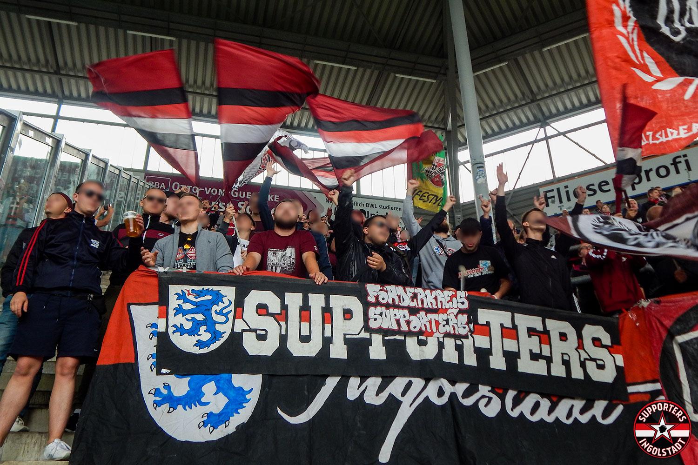 1.FC Magdeburg - FC Ingolstadt 25.08.2018 fcm fci supporters ingolstadt auswärts ultras fans fußball