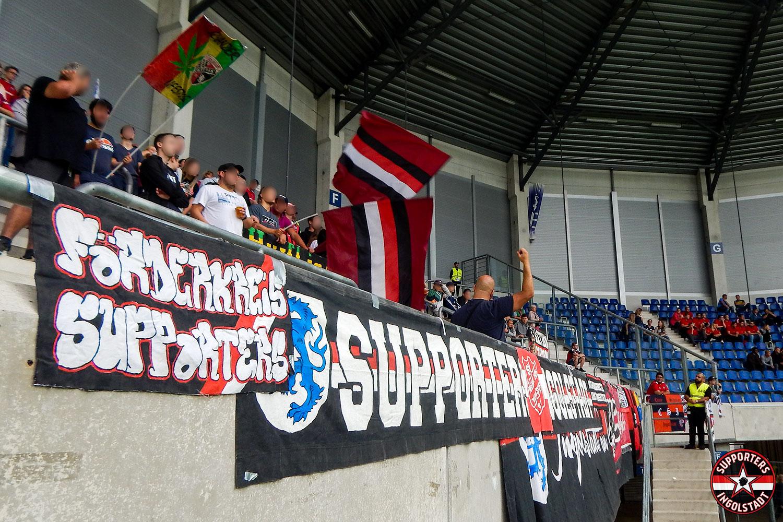 SC Paderborn - FC Ingolstadt 20.08.2018 scp fci supporters ingolstadt auswärts ultras fans fußball