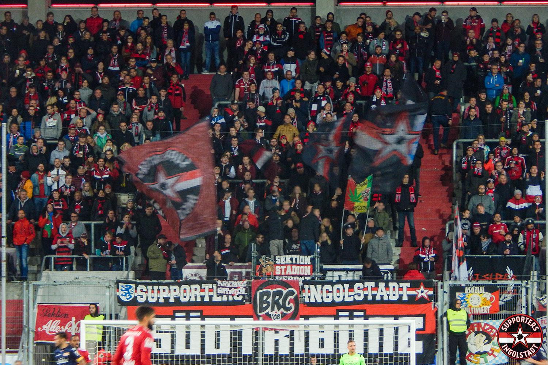 FC Ingolstadt – Union Berlin 01.10.2018 fci fcu supporters ingolstadt südtribüne ultras fans fußball