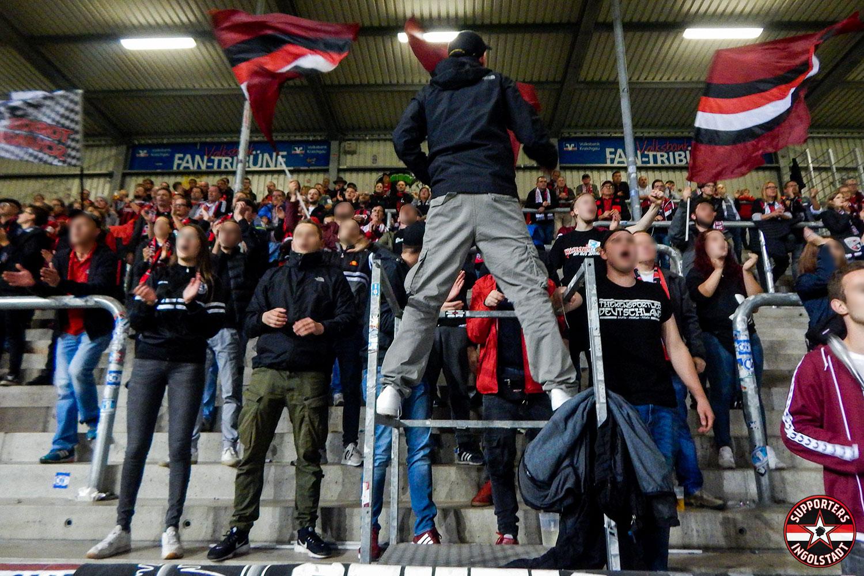 SV Sandhausen – FC Ingolstadt 19.10.2018 svs fci supporters ingolstadt auswärts ultras fans fußball