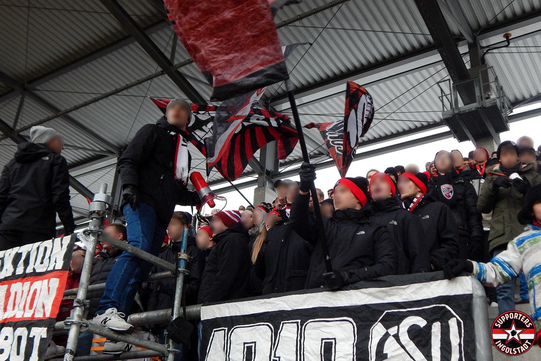 FC Ingolstadt - FC Heidenheim (16.12.2018) fci fch supporters ingolstadt südtribüne ultras fans fußball